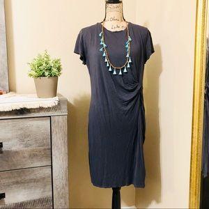 H&M Dark Gray T-Shirt Dress Womens Size Large